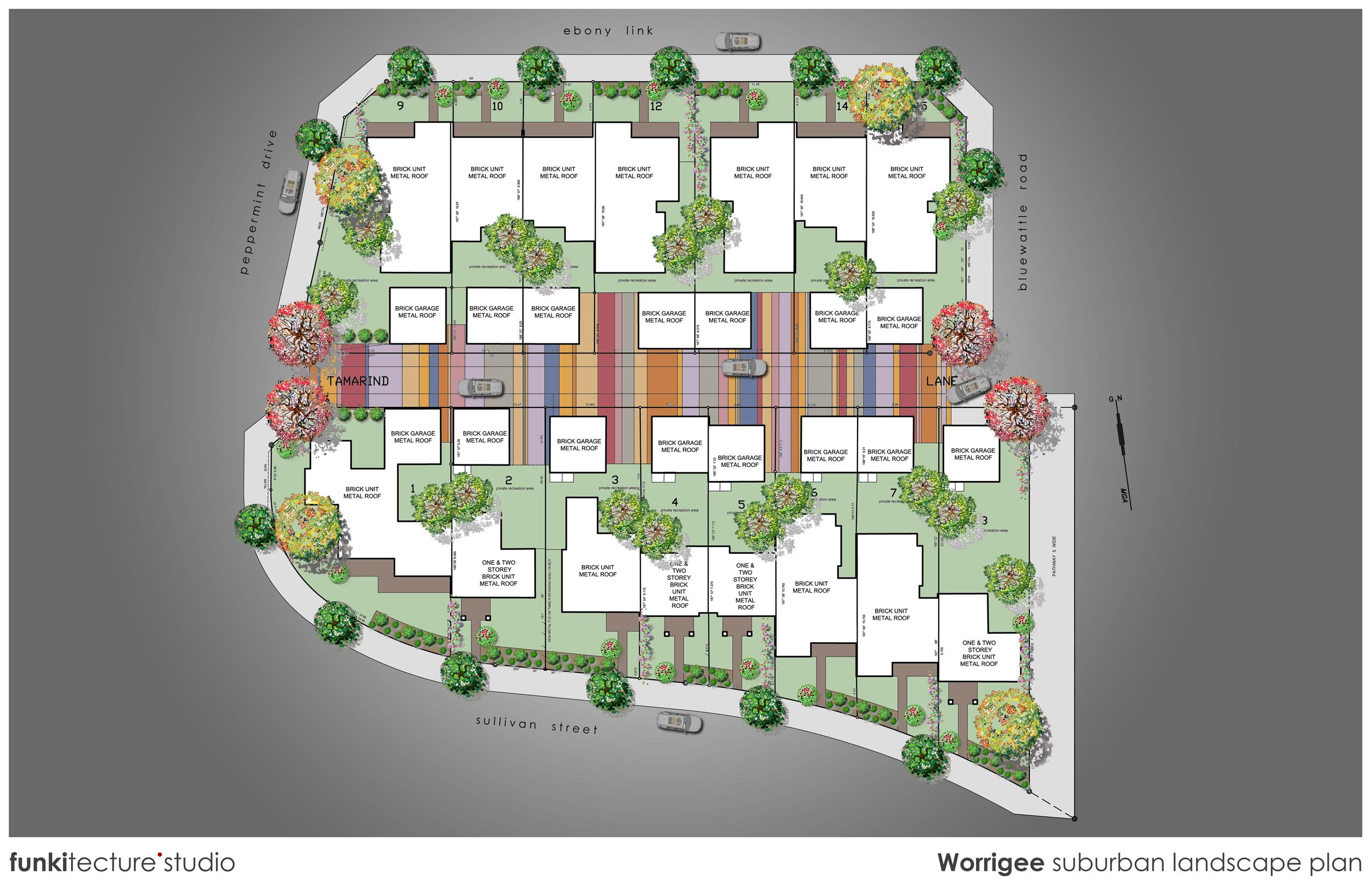 Worrigee suburban landscape plan